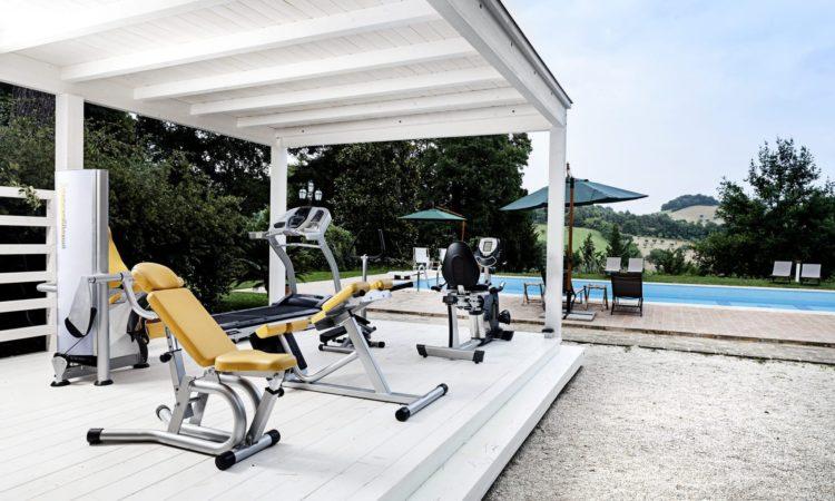 Palestra e piscina a Villa Teloni - Villa in affitto nelle Marche