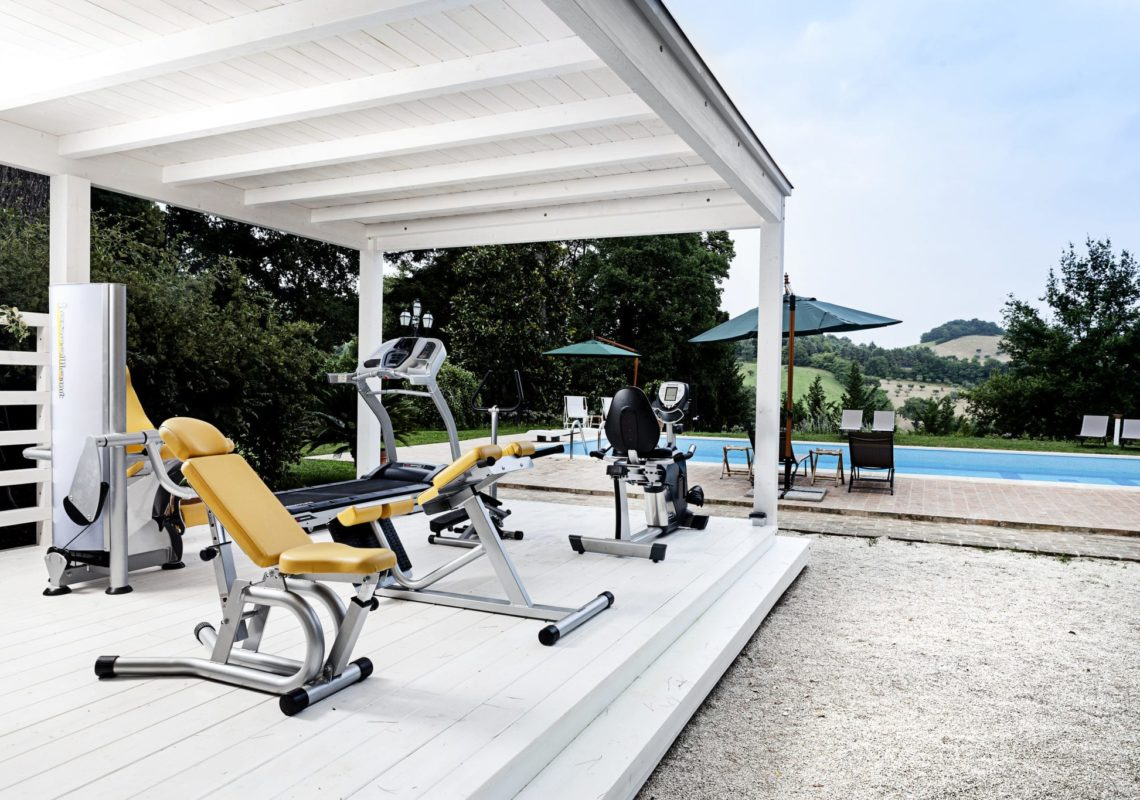 Palestra e piscina a Villa Teloni - Location per matrimoni
